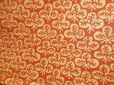 "Vintage KAFFE FASSETT ROWAN  Orange/Peach CLOVER cotton fabric 1 YARD 42"" wide"