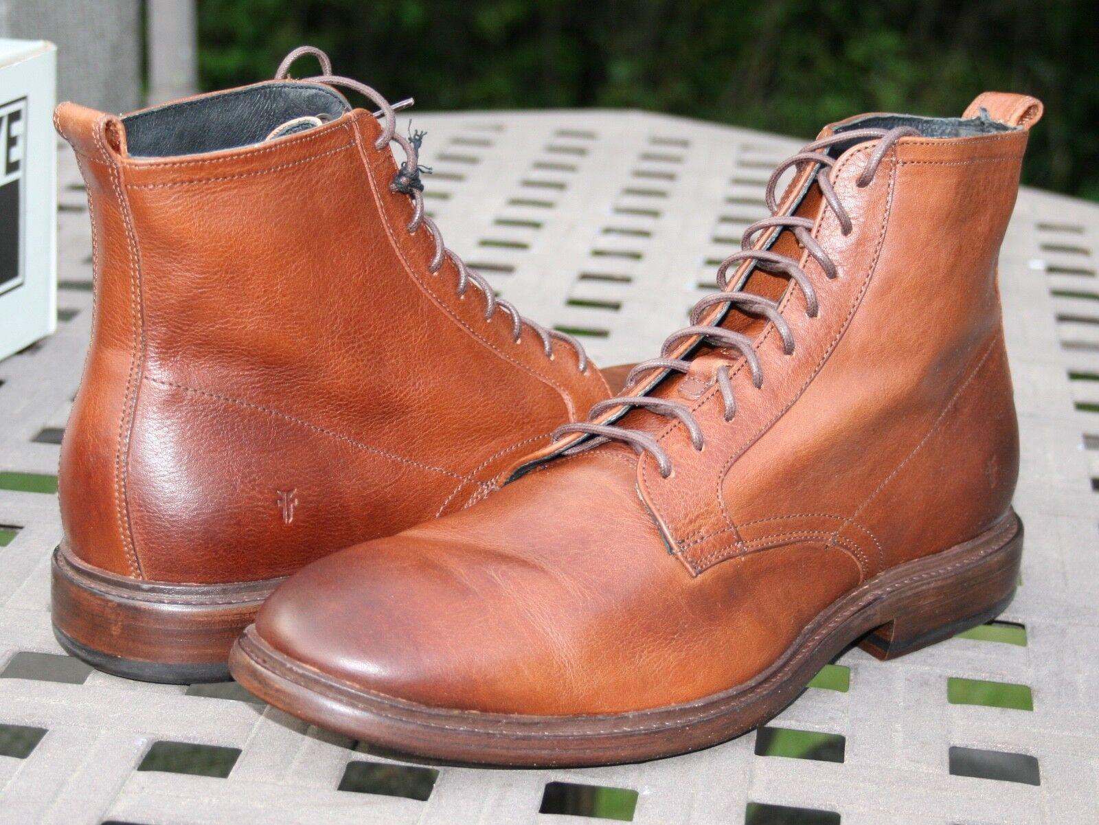 FRYE PATRICK LACE UP  SZ 9 Men's Leather shoes Copper