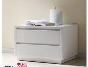 m 96 dupen design nachtkonsole hochglanz wei tisch nachttisch schlafzimmer neu ebay. Black Bedroom Furniture Sets. Home Design Ideas