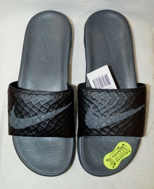 d93359f54080b6 Nike Benassi Solarsoft Slide 2 Black anthracite 705474-091 Men s Sz ...