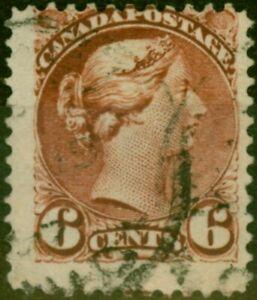 Kanada 1890 6c Deep Chestnut SG107 Fein Gebraucht (2)