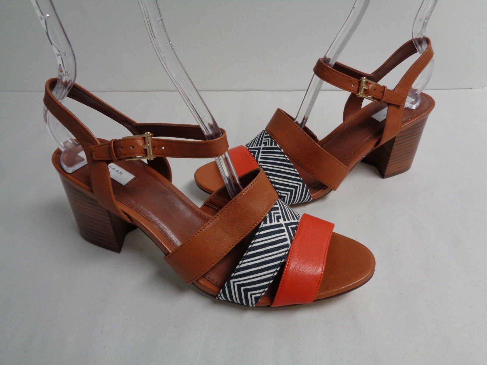 Cole Haan Size 8.5 M ANISA HIGH HIGH HIGH Brown Leather Dress Sandals New Womens shoes 0d16e5