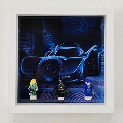 Display Case Frame for Lego Batman 1989 Batmobile minifigures 76139 no figures