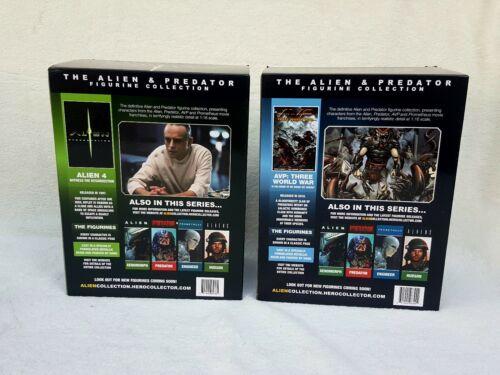 Joblots Paquet de X2 RARE the Alien /& Predator figurine collection par Eaglemoss