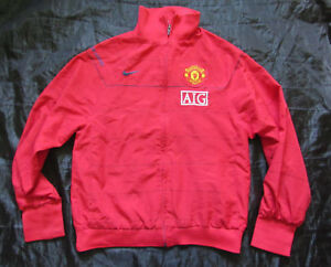 50a71e518 MANCHESTER UNITED Training zip Woven Jacket NIKE Red Devils 2008-09 ...
