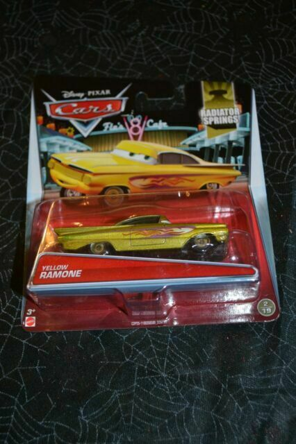2014 DISNEY PIXAR CARS YELLOW RAMONE RADIATOR SPRINGS 2//19