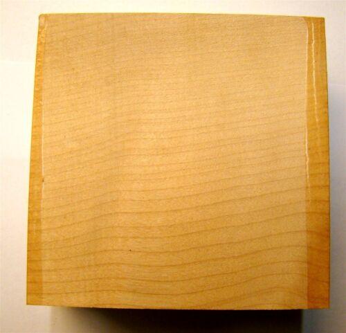Drechselholz Klotz Ahorn 18x18x5cm Schnitzholz A12