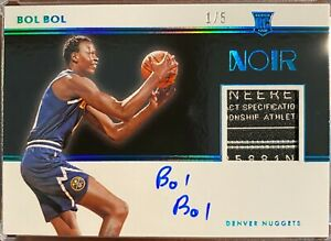 2019-20-Panini-NOIR-Bol-Bol-Auto-LAUNDRY-TAG-Patch-Rookie-RC-RPA-1-of-5-RARE