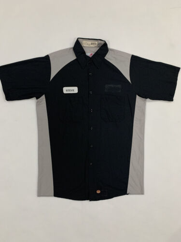 Red Kap Automotive Mechanic Technician Short Sleeve Work Shirts Medium #B07