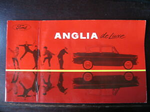 Brochure Catalogue 16 Pages Ford Anglia De Luxe 1962- 63 Clair Et Distinctif