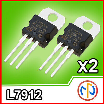 2 PEZZI 7912 L7912CV  L7912CV LM7912 Regolatore Stabilizzatore di Tensione