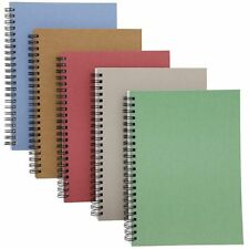 5x Kraft Notebook Journals Note Book Pad Schools College Ruled 5 Colors 6 X 8