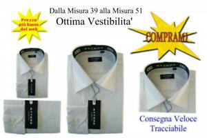 Camicia-classica-uomo-Attore-manica-lunga-collo-classico-da-39-a-tg-51-art-056