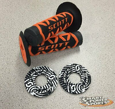 NEON GREEN//Black Scott SX2 Handlebar Grips with DONUTS Motocross MX SXII