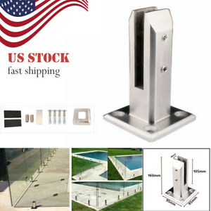 US-Stock-Stainless-Steel-Glass-Clip-Stand-Balcony-Pool-Balustrade-Railing-Clamp
