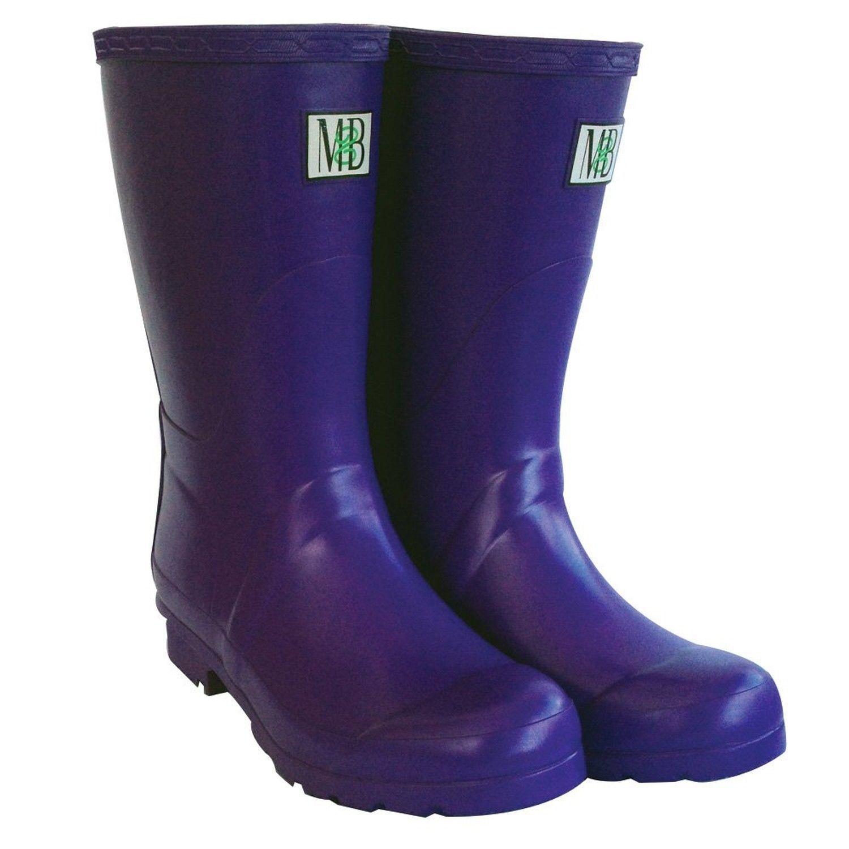 Moneysworth & Best M&B Corto botas de caucho caucho caucho para lluvia lodo, Púrpura, Talla 7 Nuevo En Caja  90  salida
