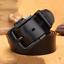 Homme-Ceinture-en-cuir-veritable-ceinture-bracelet-retro-noir-Pin-Boucle-Decontracte-Jeans-Ceinture miniature 9