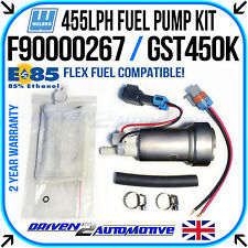 NEW WALBRO IN-TANK 455LPH FUEL PUMP E85 COMPATIBLE W/ GENUINE WALBRO FITTING KIT
