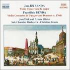 Jan Jir¡ & Frantisek Benda: Violin Concertos, Vol. 1 (CD, Oct-2001, Naxos (Distributor))