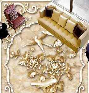 3d Fleurs 12 Fond D'écran étage Peint En Autocollant Murale Plafond Chambre Art Forme éLéGante