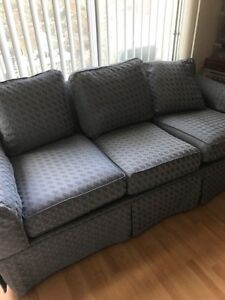 Drexel Heritage Sofa Blue Micro Fiber Great Condition With No
