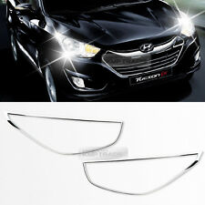 Chrome Front Head Light Lamp Cover Molding Set For HYUNDAI 2010-2013 Tucson ix35