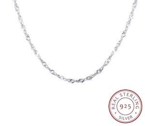 Chaine-Fine-Argent-925-Sterling-Plaque-Filigrane-Fine-Elegante-Chic-Style45-50cm