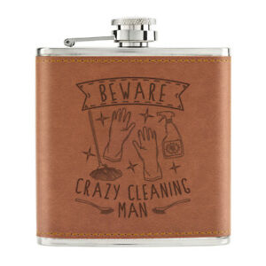 Attention-Crazy-Nettoyage-Homme-170ml-Cuir-PU-Hip-Flasque-Fauve-Papa-Peres-Day