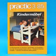DDR practic 3/1985 Großspielgeräte Drachen Gleitjolle Stöpselspiel Kindertisch N