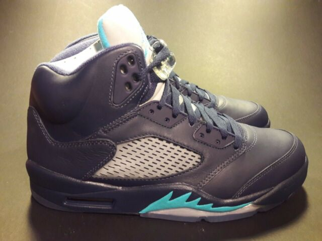 e1af6663b01 Air Jordan V 5 Retro Size 9 Midnight Navy Blue Hornets 136027 405 ...