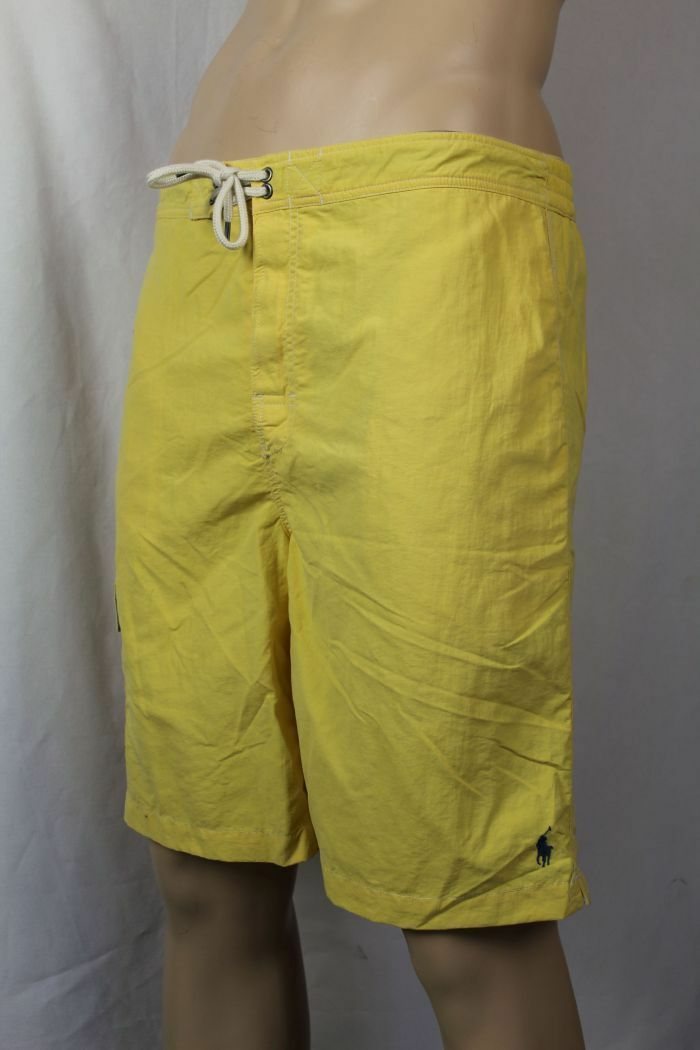 Ralph Lauren Yellow Swim Shorts Trunks bluee Pony NWT