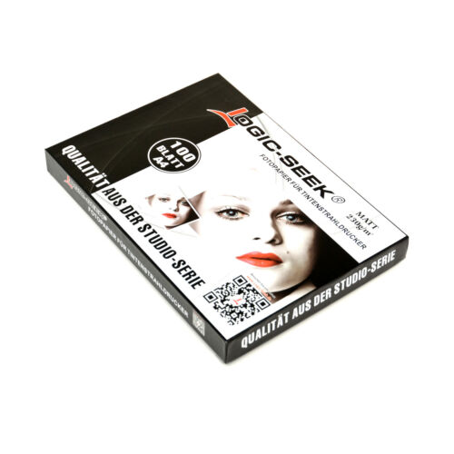 100 Blatt Logic Seek® Fotopapier DIN A4 Matt 230g für HP Business InkJet 2200