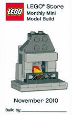 Constructibles® Fireplace Mini Model LEGO® Parts & Instructions Kit