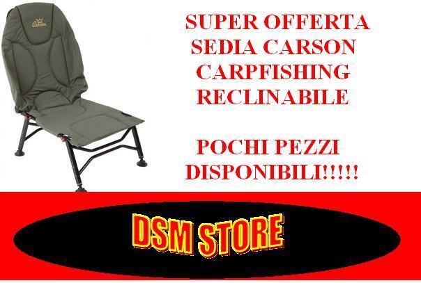 A0538 SEDIA CARPFISHING CARSON RECLINABILE IMBOTTITA CARP FISHING CHAIR