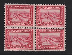 US 398 2c Panama Pacific Mint Block of 4 1 LH-3 NH SCV $138+