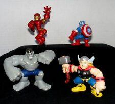 Marvel Super Hero Squad Lot from Avengers Face Off Thor, Hulk, Iron Man, Captain