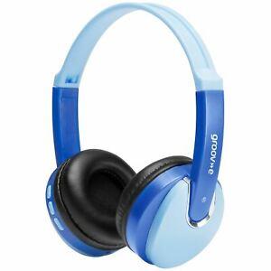 Dj-Style-Bluetooth-sans-Fil-sur-Oreilles-Casque-pour-Enfants-Bleu-Modele