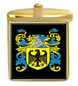 Select Gifts Pearman England Family Crest Surname Coat Of Arms Cufflinks Personalised Case
