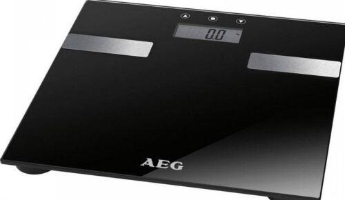 AEG Fitnesswaage Körperfettwaage Glaswaage schwarz 7in1 Analysewaage Körperfett