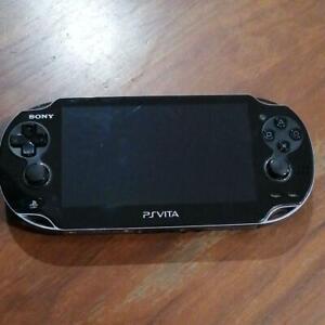 SONY-PlayStation-Vita-PCH-1100-3G-Wi-Fi-Model-Crystal-Black-Limited-USED