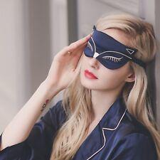 100% Silk Seide Schlafmaske Augenbinde Fuchs Sleep Mask Schlafbrille Augenmaske