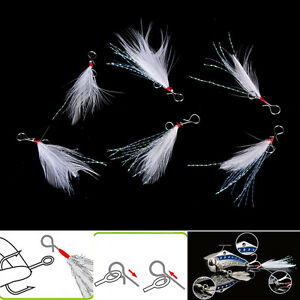 10pcs-49mm-blade-Lure-pendant-bloodstreams-feather-fishing-lure-tackle-single-KQ