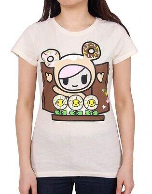 NEW Tokidoki Feeling Moody Junior Women Black Tee T-shirt WBTE06206 US Seller