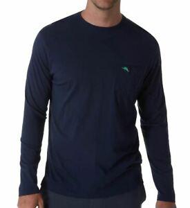 Tommy-Bahama-Mens-T-Shirt-Blue-Size-Medium-M-Long-Sleeve-Crewneck-Tee-59-102