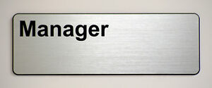 'Manager' Engraved label for offices and businesses.