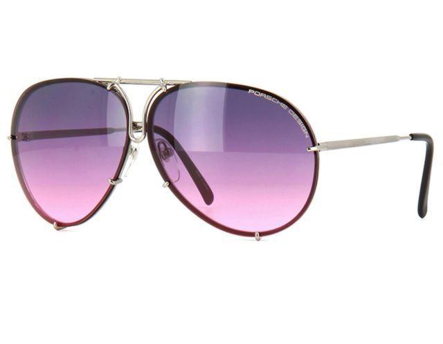 c61f8f24cfa Porsche Design P8478 M 66mm Gunmetal Aviator Pink Gradient Sunglasses for  sale online