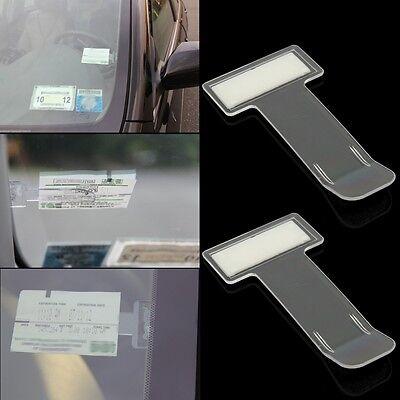 5Pcs Car Vehicle Parking Ticket Permit Clip Stickers Holder Windscreen Window