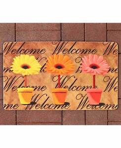 Image Is Loading Spring Daisy Garden Outdoor Welcome Mat Colorful Flowers