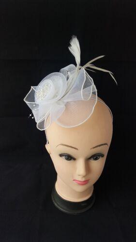Flower Beaded center Headband Fascinator Weddings Ladies Day Race Royal Ascot