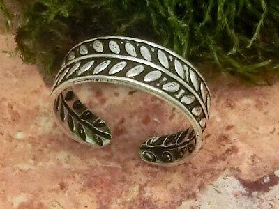 Einfacher schmaler Zehenring Fußring 925 Silber Zehring poliert einstellbar
